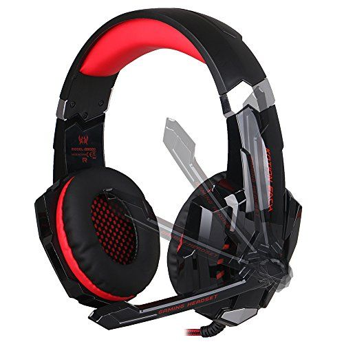 EasySMX Gaming Headphone Headset Earphone Headband with Mic LED Lighting Noise Cancellation and In-line Controller Compatible with PS4 Mobile Phones Laptop Tablet and Computer (Black and Red) - System Requirements • For computer use: support Windows XP/Vista/7/8/8.1 • For mobile phone use: Android and iOS What Advantages We Provide • Not only for PC- We upgrade it with a 4 pin 3.5mm jack (instead of 2 x 3pin 3.5mm jack) to make it versatile to PS4, tablet, and all mobile ...