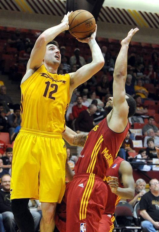 Cavaliers guard Joe Harris, pictured here while playing for the Charge during the D-League playoffs in April, is highlighting the Cavs' summer league roster in Las Vegas