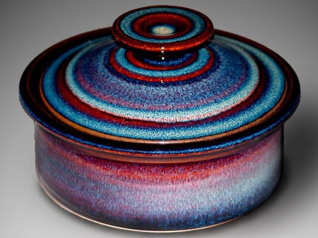 Beautiful pottery, beautiful colors from the little town of Corry, PA.