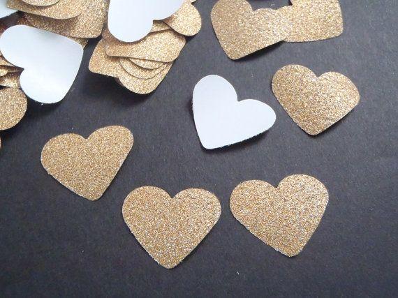 gold glitter heart paper confetti christmas wedding gay baby shower party favor garland bachelorette table decor invitation lasoffittadiste