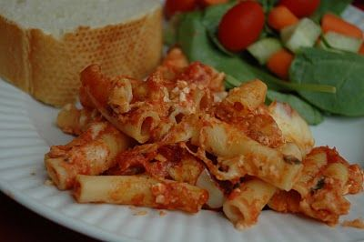Baked Ziti: made this tonight!  Awesome! This is my go to Meatless Monday meal!