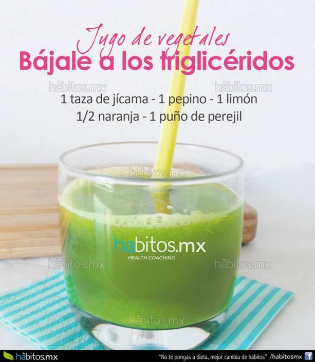 Jugo de vegetales b jale a los triglic ridos jugos for Infusiones para bajar el colesterol