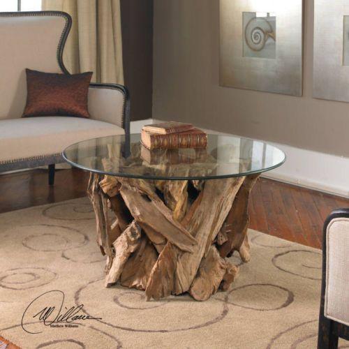 Beach Chic Coffee Table: Coastal Nautical Beach Cottage Style Driftwood Teak Wood