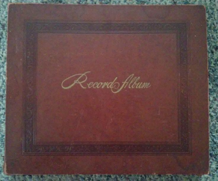 Vintage Record Album DECCA Embossed & Gold Script 12 Paper 78 Record Sleeves