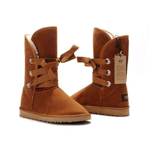 Ugg Roxy Short Boots 5828 Chestnut