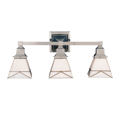 Craftsman Bath Bar 3 light (polished nickel)
