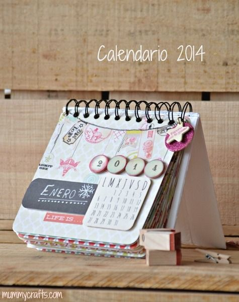 Kit para hacer tu propio Calendario 2014 de Mummy Crafts por DaWanda.com