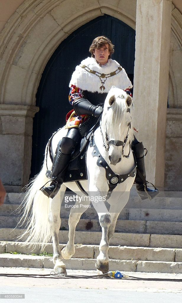 Raul Merida is seen during the filming of 'La Corona Partida' in Torrelaguna on May 21, 2015 in Madrid, Spain.