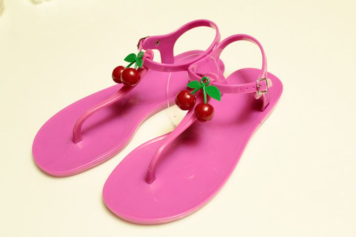 >> Click to Buy << Bow Thong Jelly Shoes Woman Jelly Flip Flops Women Sandals Ladies Flat Slippers 2017 #Affiliate