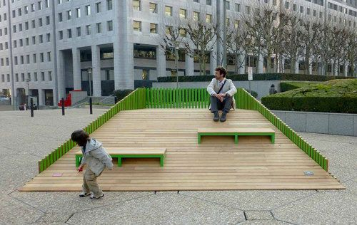 """DUNE is a street furniture system designed by the FERPECT collective for """"Forme Publique"""", the Biennale of Street Furniture's Design organiz..."""