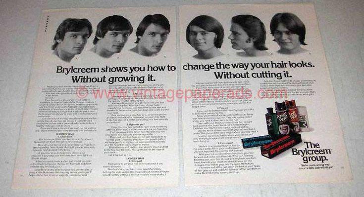 1973 Brylcreem Hair Care, Hair Spray Ad - Change Looks