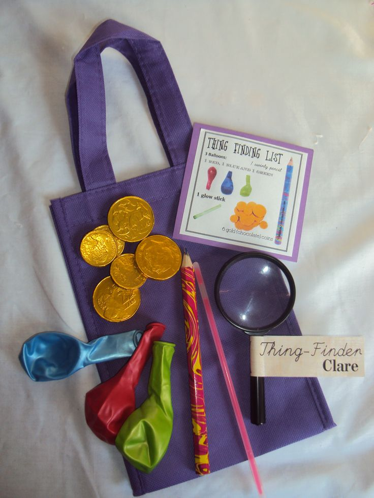 """Thing Finding"" Pippi Longstocking Party game"