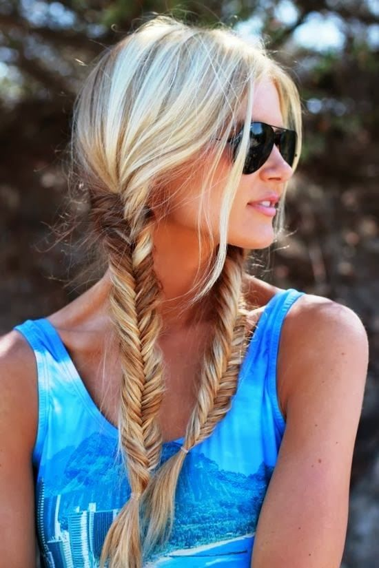 Fishtail pigtails!! My go to travel hair style :)