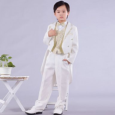 Page Boy Suits Six Pieces White And Gold Swallow-tail Ring Bearer Suit (1145550) – USD $ 39.99