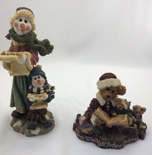 Boyds Bear 2 Christmas Figurines Mrs. G Clef 2001 & Alexis Bearinsky 1998   | eBay