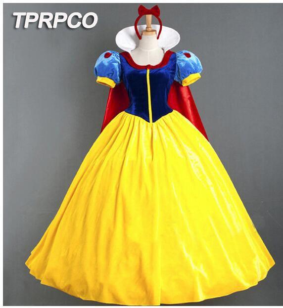 TPRPCO Avec agitation Femmes Adulte Halloween de Bande Dessinée Princesse de Neige Blanc Costume Pour Vente CO98321347