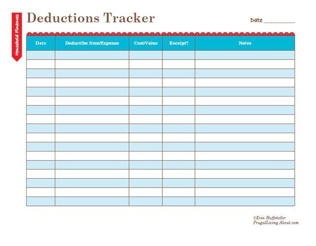 deduction tracker 28 images donation log etame mibawa co 4 easy