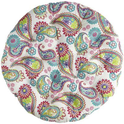 Papasan Cushion - Pink Paisley Hmmm...maybe these colors for our kid friendly home school living room with a somewhat native american theme?