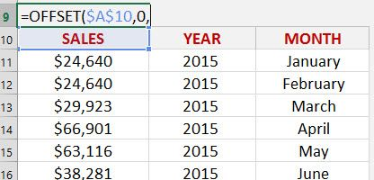 Excel OFFSET function | Excel | Microsoft excel, Microsoft y