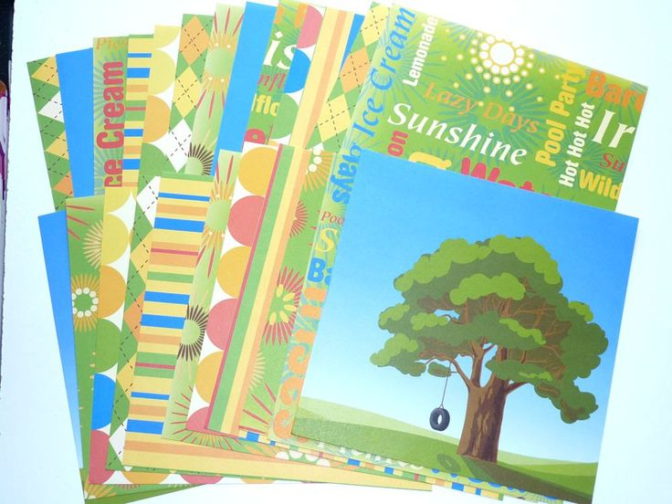 Card Stock Summer Time Food and Fun 24 Sheets by SouthamptonCreations on Etsy