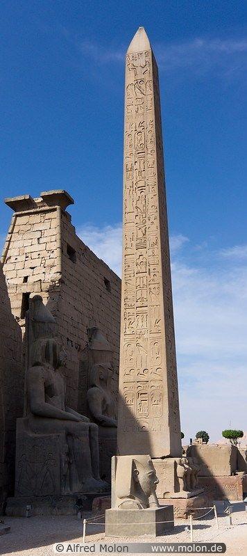 Red granite obelisk Luxor Egypt                                                                                                                                                                                 More
