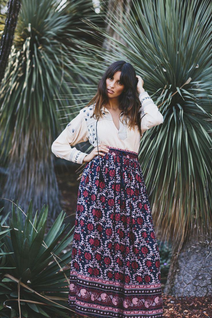 Bohemian Traders - Desert Flower Maxi Skirt
