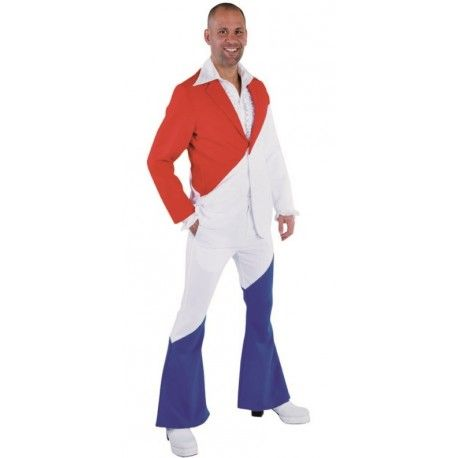 Déguisement costume rouge blanc bleu homme luxe  Costumes and Rouge