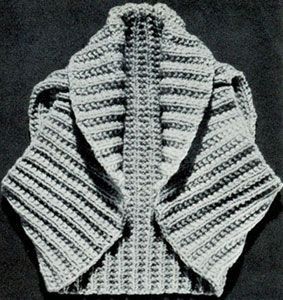 Hug-Me-Tight Shrug - free vintage knit pattern