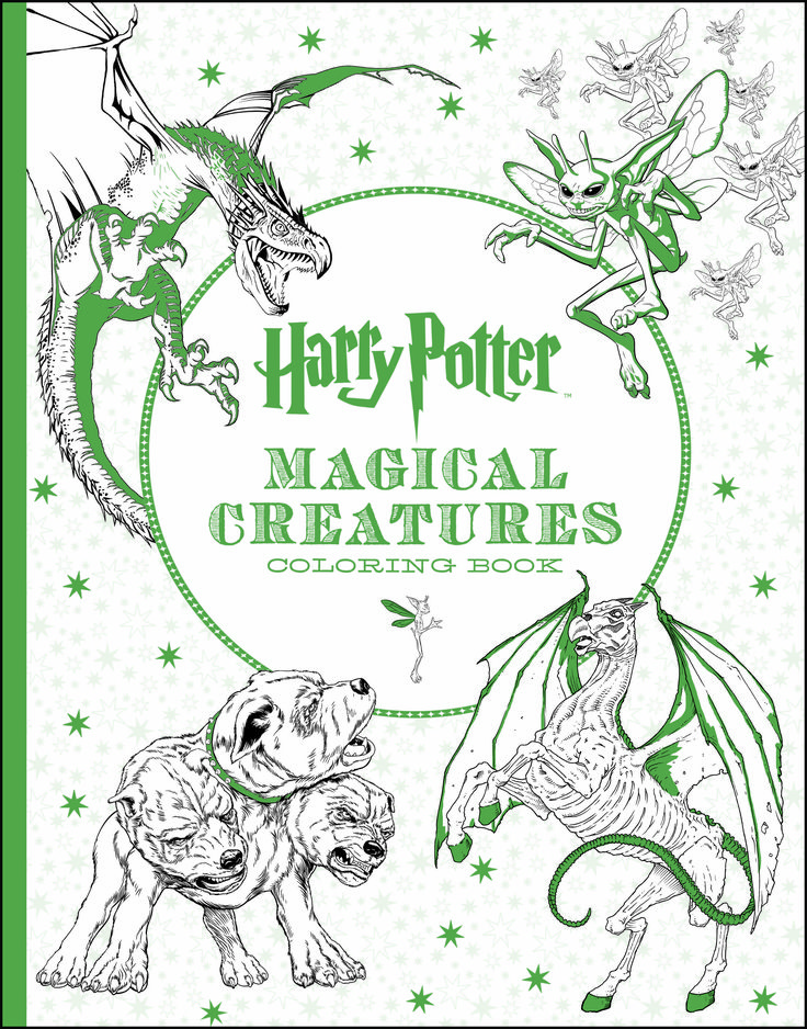 Harry Potter fans, get ready to put your own colorful spin on all of the magical creatures from Hogwarts and beyond with Harry Potter Magical Creatures Coloring Book, on shelves Jan. 26.