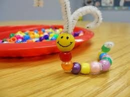 fall festival craft, bead and pipe cleaner worm