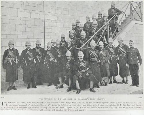 The Officers Of The 2nd Duke Of Cornwall's Light Infantry