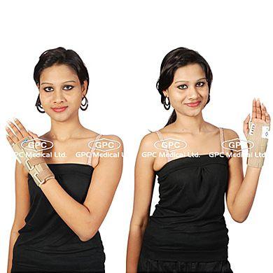 Elastic Cock up Splint: GPC Medical Ltd. - Exporter & Manufacturers of Elastic cock up splint - short type (wrist splint), wrist splint short type from India.