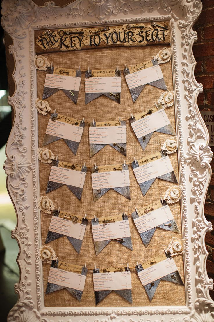 vintage picture frame for table seating