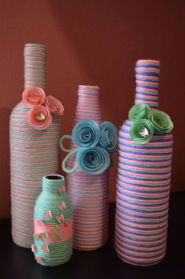 17 Best Images About Bottles Jute Or Burlap Or Yarn On