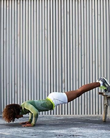 Legs Elevated Pushup.