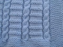 Ravelry: Easy to knit Cable baby blanket pattern pattern by Belinda Allen