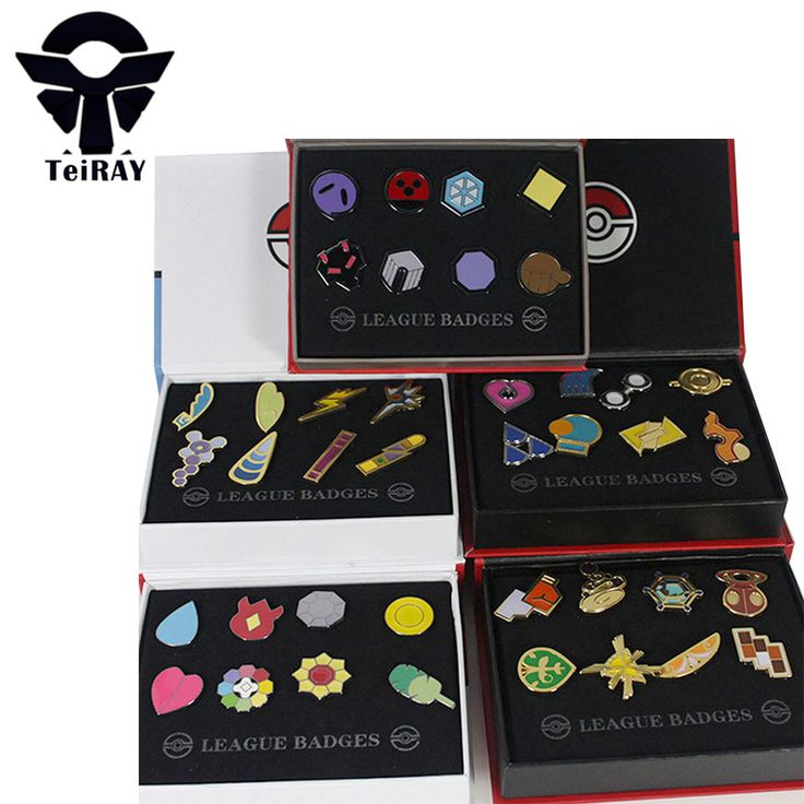 8Pcs Set League Badges Brooch Mini Zinic Alloy Figurats Japan Anime Games Cosplay action figure Keychains Kids Hot toys for Boys #Affiliate