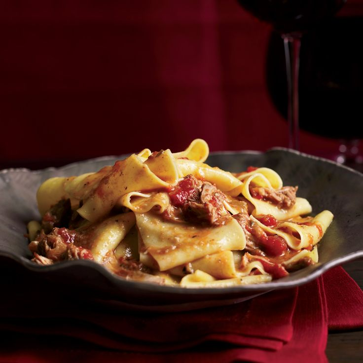 Ribbons of pappardelle are coated with a long-simmered veal ragu in this recipe. Subtly spiced with fennel and coriander, it's a deeply satisfying pasta dish.