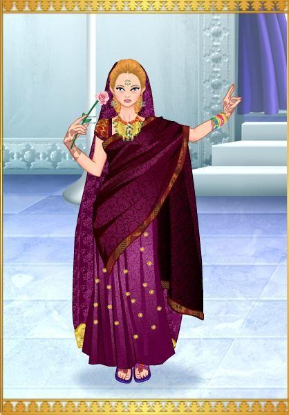 Princesa Ayumi Cho en traje Indu