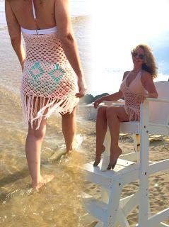 Annoo's Crochet World: Boho Blush Beach Dress - free pattern
