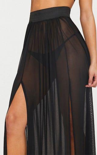 e7ed700c3b Minah White Mesh Maxi Skirt - Skirts - PrettylittleThing ...