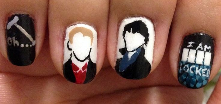 Dress up your nails for Halloween: Sherlock