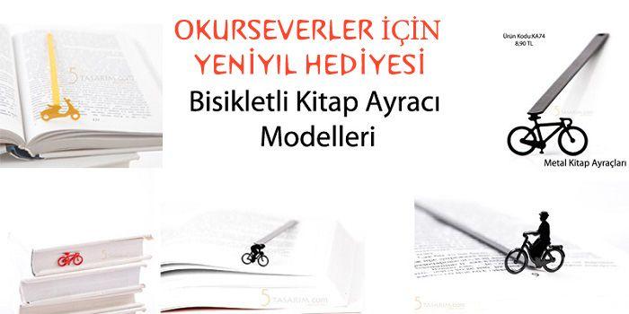 bisikletli yeniyıl hediyeleri kitap ayraçları