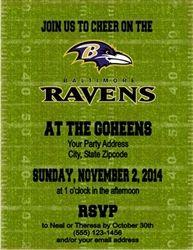Ravens football party invitation