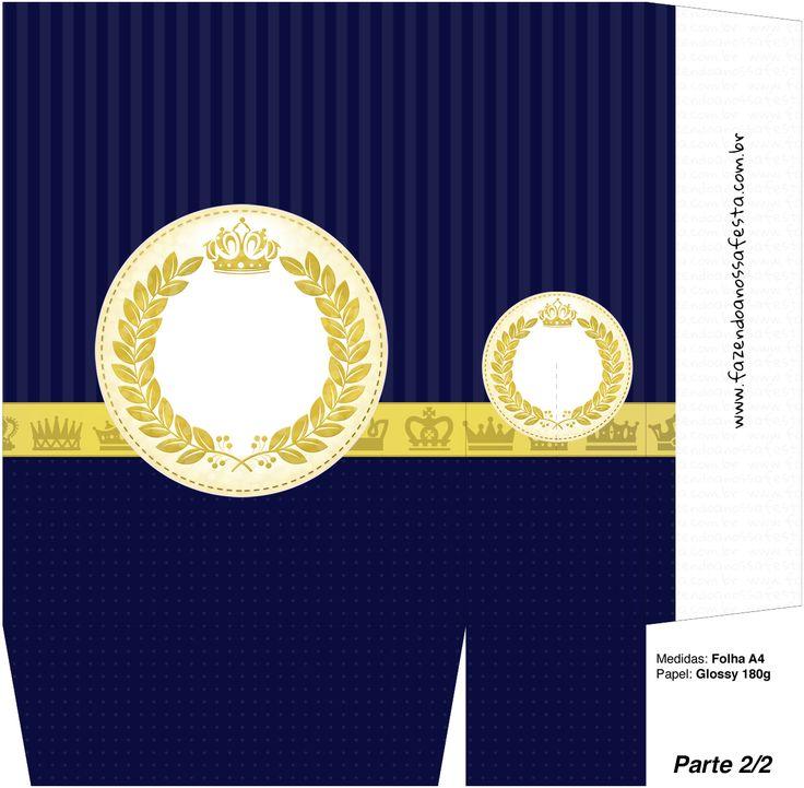 Sacolinha Surpresa Coroa Príncipe Azul Marinho - A4 parte 2