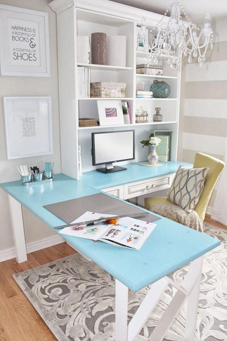 343 best inspiring home offices images on pinterest office feminine home office