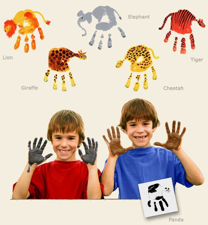 Hand Print Animals