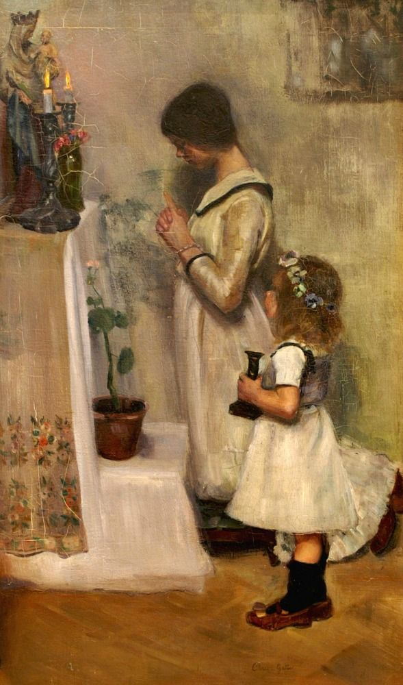 Image result for CATHOLIC PRAYING PAINTING