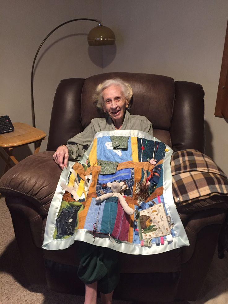 My Auntie loved her fidget quilt!