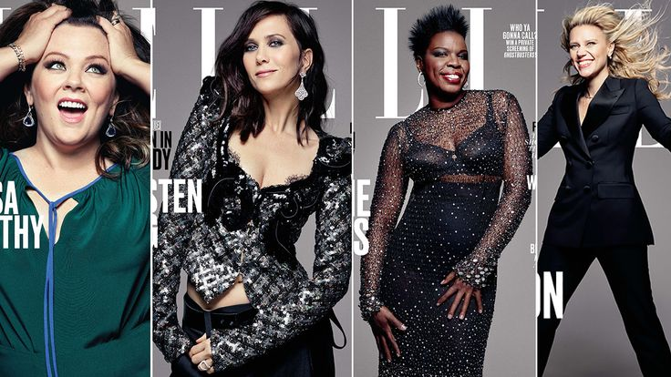 'Ghostbusters' Stars Melissa McCarthy, Kristen Wiig, Leslie Jones, and Kate McKinnon Land 'Women in Comedy' Covers for 'Elle' #Ghostbusters2016